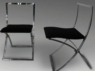 chaise verte 60's