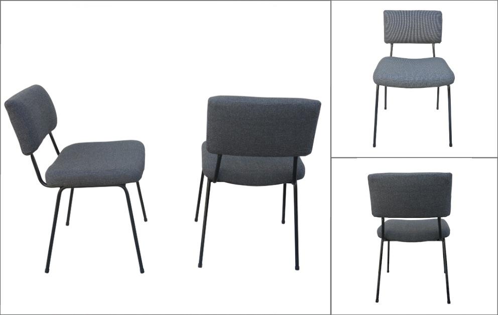 chaises Airborne vintage entre deux chaises