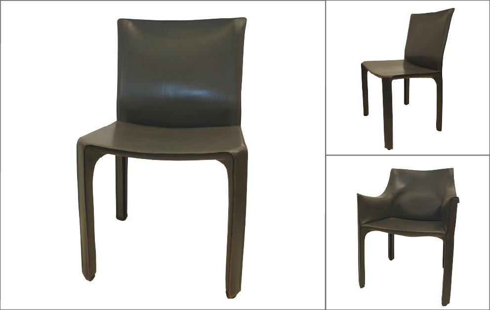 chaises cuir Mario Bellini