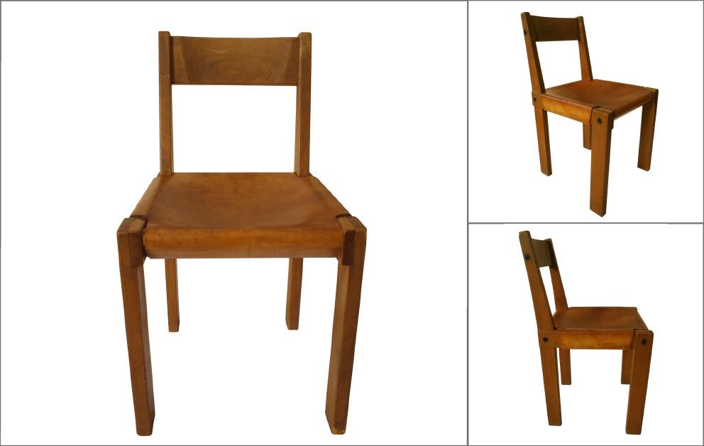 chaises bois Pierre CHAPO