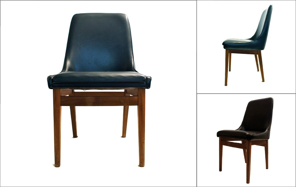 chaises scandinaves 60s noir