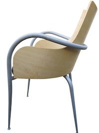 fauteuil bureau bois metal Starck Sawaya Chaise Design