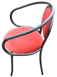 fauteuil velour métal noir THONET 210