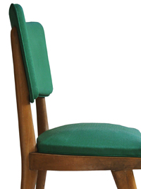 chaises vertes 1950