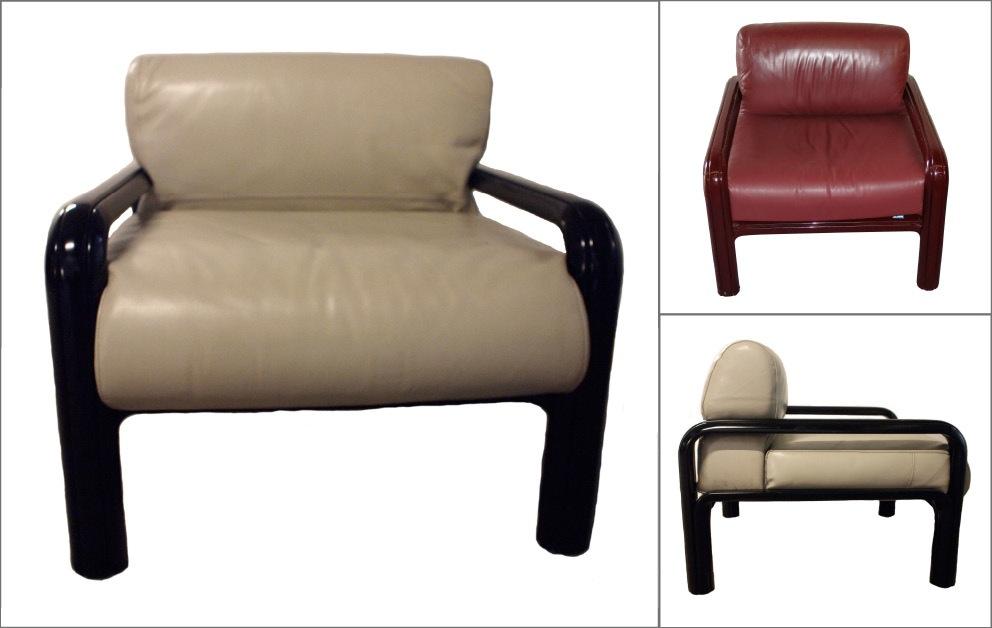 paire fauteuils gae aulenti beige