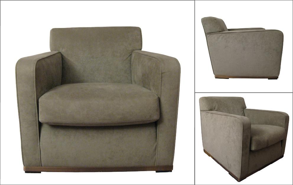 paire fauteuils suedine B&B