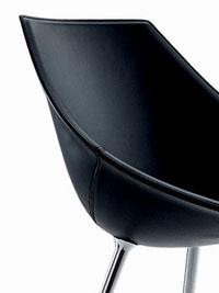 fauteuil starck design cuir noir lago driade