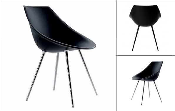 fauteuil cuir Stark entre deux chaises