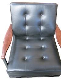 fauteuils cuir noir Bellini