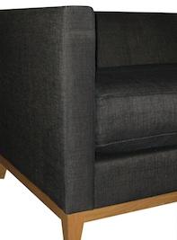 fauteuils tissus gris pieds bois