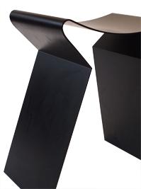 tabouret metal noir