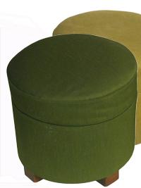 pouffes tissus vert
