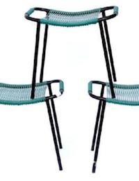 tabouret chaise scoubidou vert